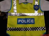 Карнавальный костюм для мальчика. Полицейский. Кофточка, галстук синий, шапка.